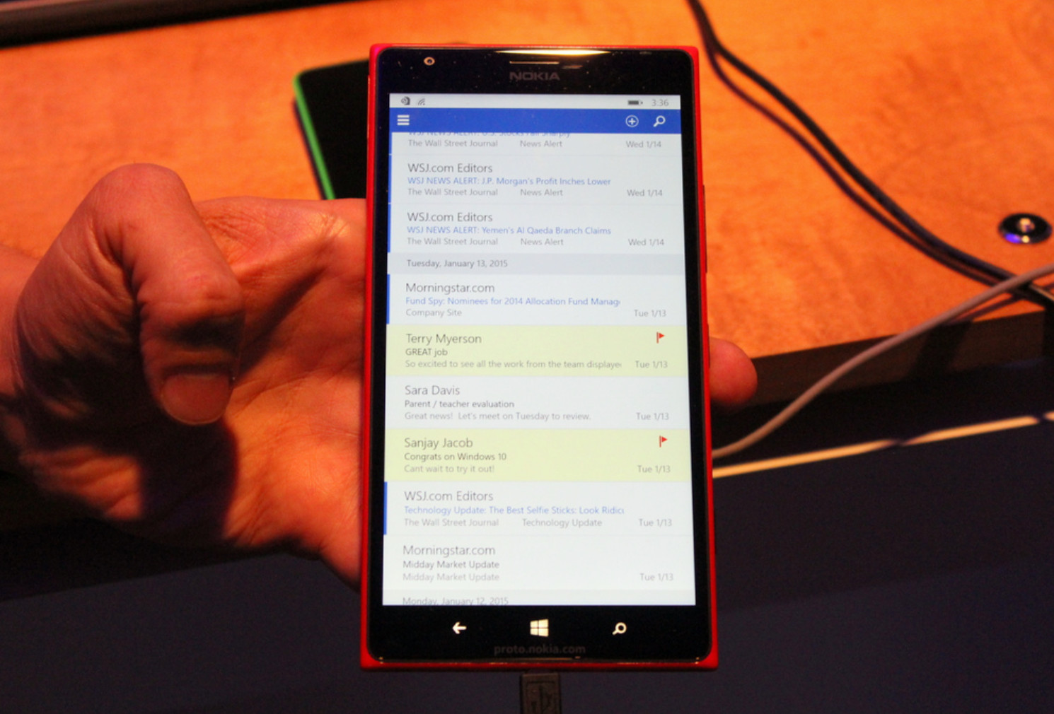 Windows Phone 10: A subtle change to Outlook with big