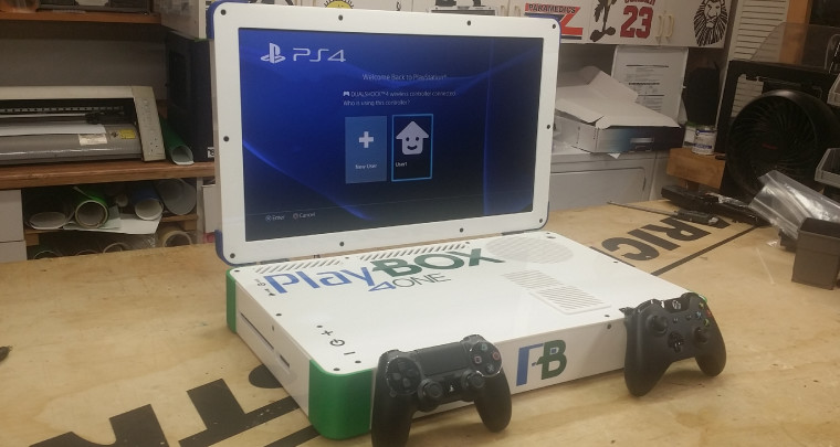 Xbox One + PlayStation 4 = the PlayBox, a 22-inch laptop