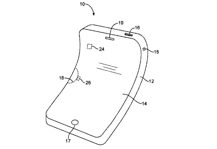 new patent shows that apple is experimenting with idevices that are flexible