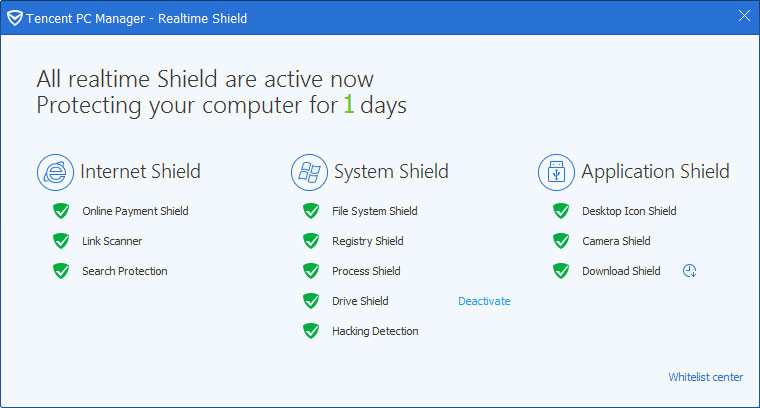 Tencent PC Manager Shield