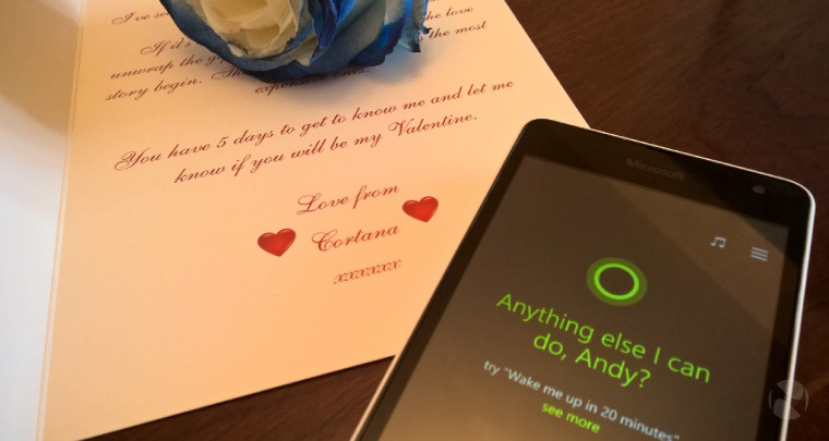 Hello cortana good morning happy valentine s day sing me a song for