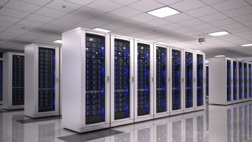A datacenter containing servers