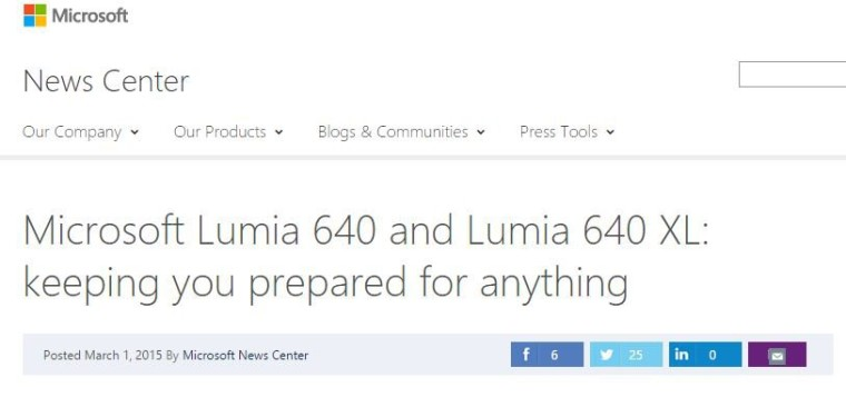 Microsoft Lumia 640 and 640 XL appear ahead of reveal