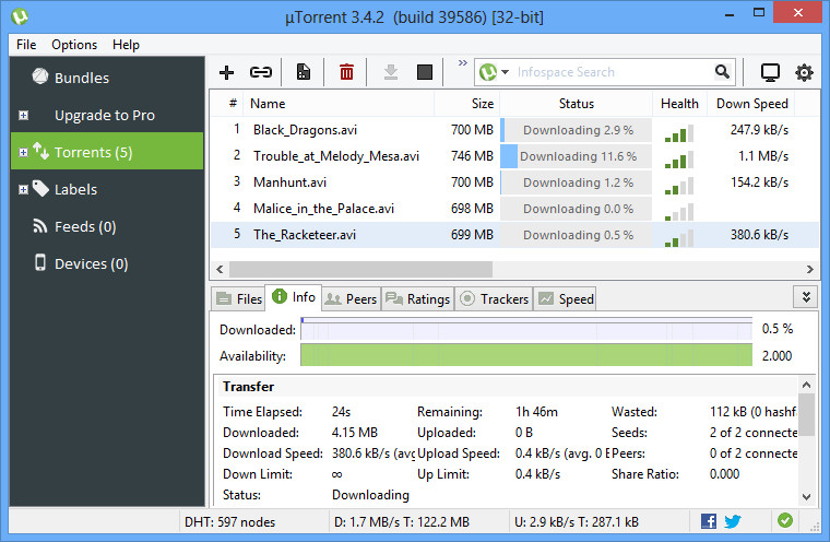 uTorrent 3.5.0 Build 43804 - Neowin