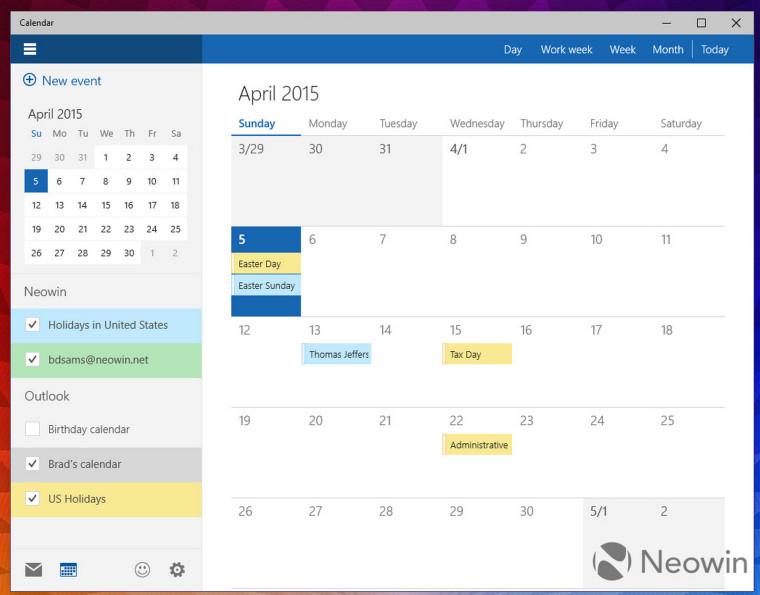 how to add calendars to windows 10 calendar