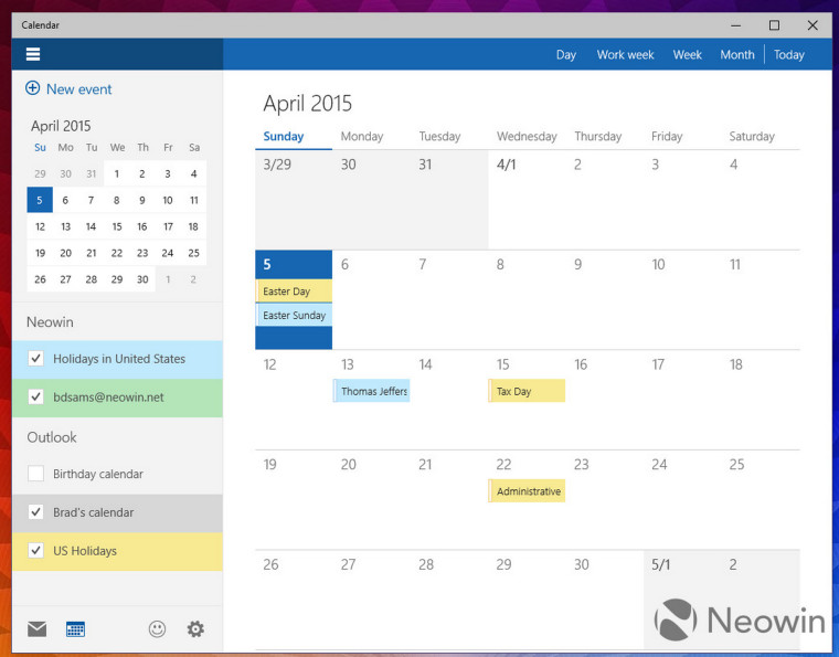 Windows 10 10051: A closer look at the new calendar app - Neowin