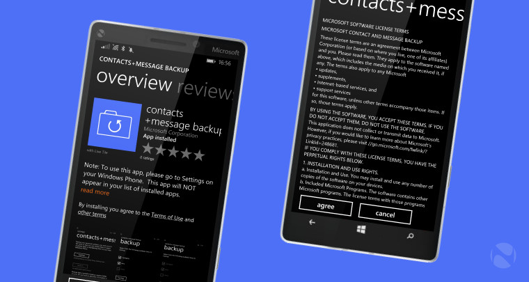 microsofts windows phone app can now backup contacts and messages to microsd