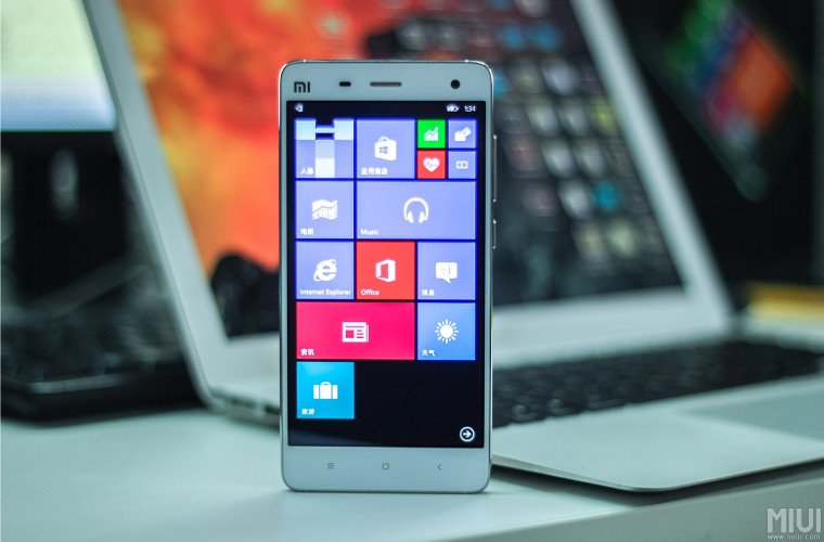 پیش نمایش ویندوز 10 موبایل بر روی گوشی Mi4 شیائومی