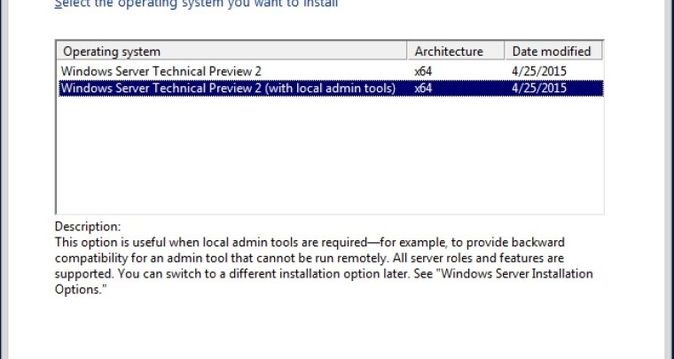 microsoft windows server technical preview