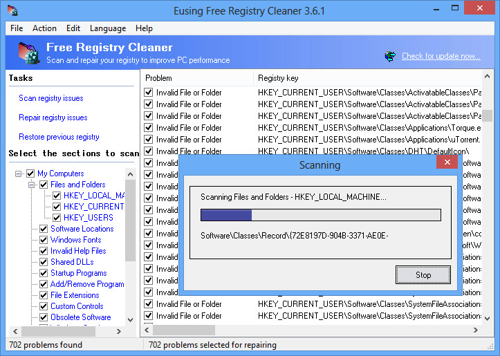 how to clean registry in windows 10 using cmd