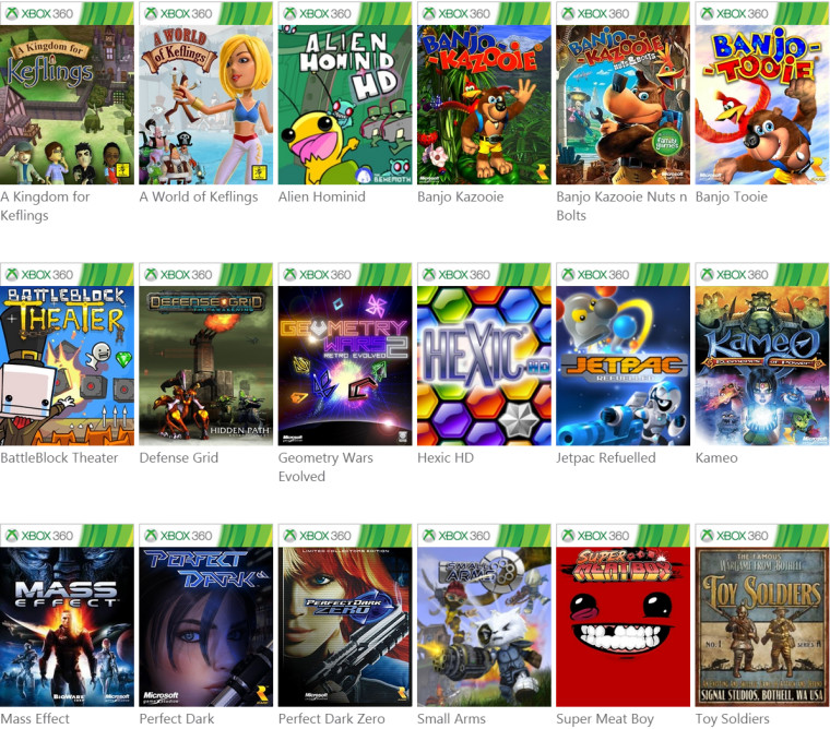 Xbox 360 Games List : Here s the list of xbox games you can play on your
