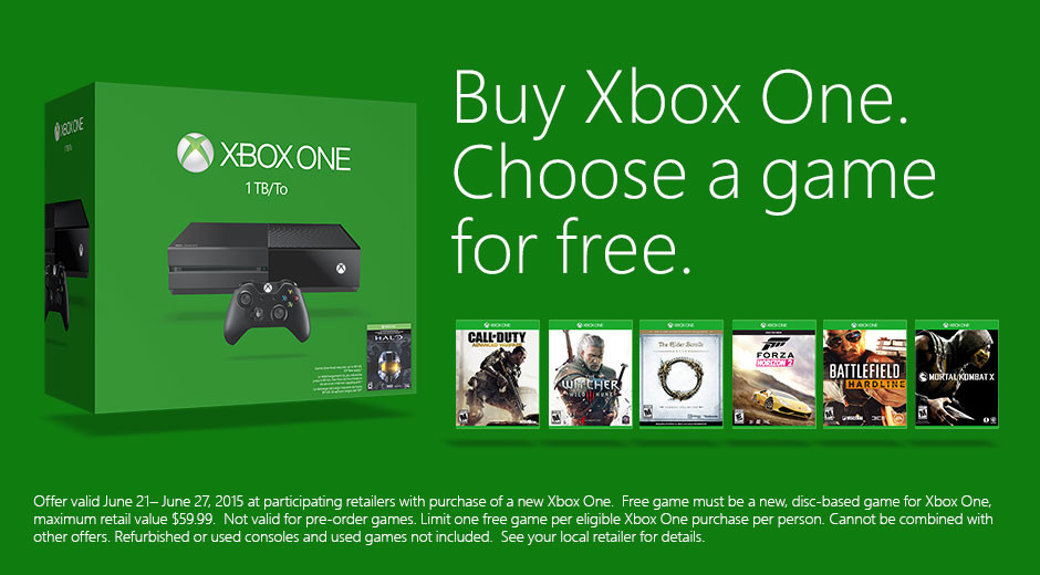Microsoft will give you any game of your choice when you buy