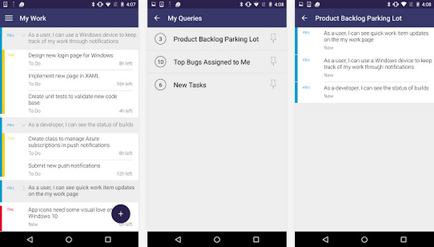 Work Item Studio' will allow Android users to work on projects on