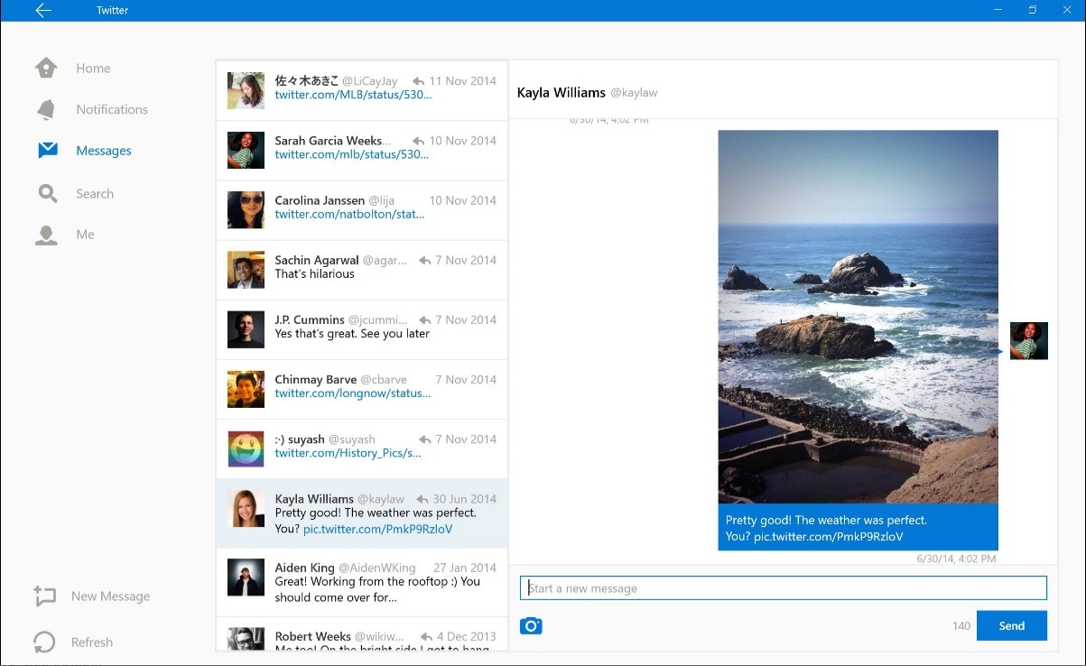 Screenshots show redesigned Twitter app, just in time for Windows 10