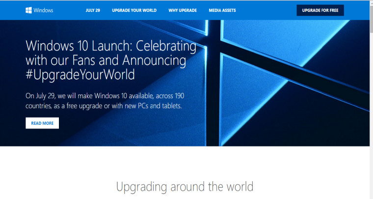 Microsoft reveals official launch site for windows 10 neowin for Windows official site