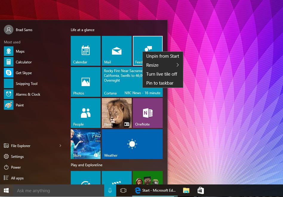 Windows 10 Tip: Customizing the Start menu - Neowin