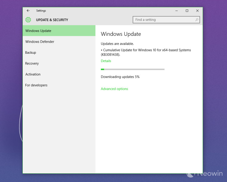 Microsoft has released another cumulative update for Windows 10
