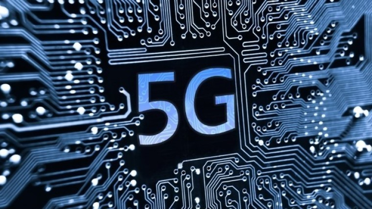 A chip graphic with 5G written in the center