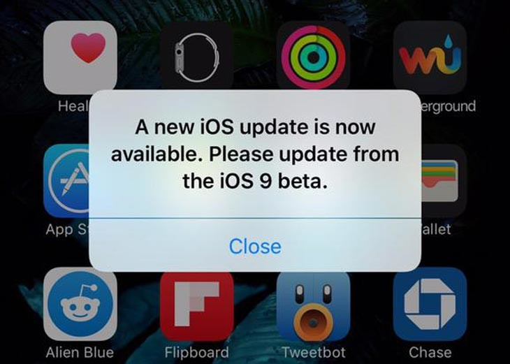 Some users seeing iOS 9 update alert days before official ...