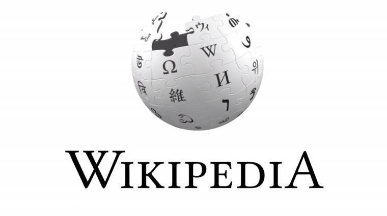 The Wikipedia logo on a white background