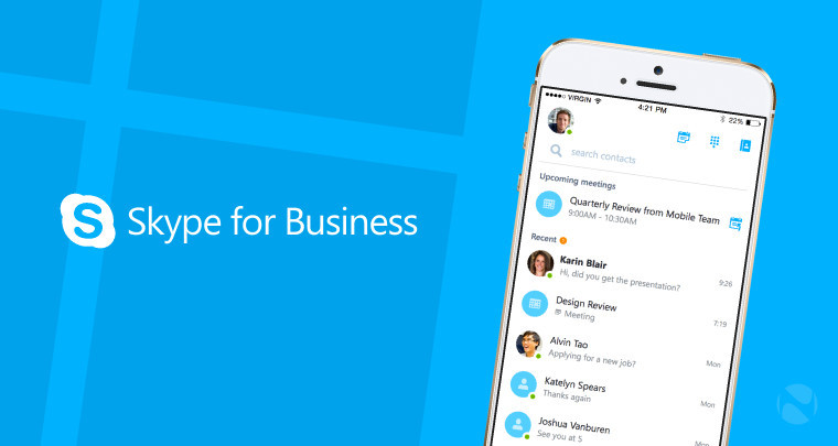 Microsoft's Skype for Business app is now available for iOS
