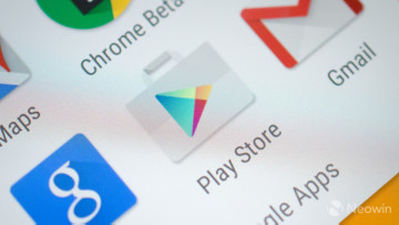 Google Play Store icon on a screen