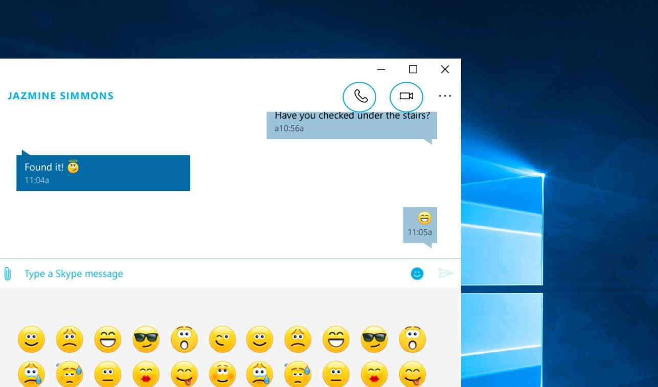 Skype integration preview included in the Windows 10 November update