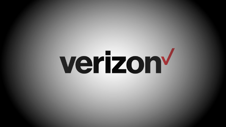 Verizon logo with spotlight background