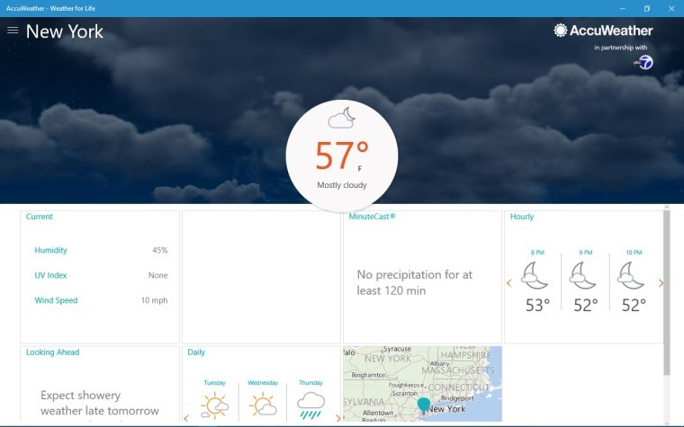 AccuWeather releases 'Weather for Life' Universal app for Windows 10