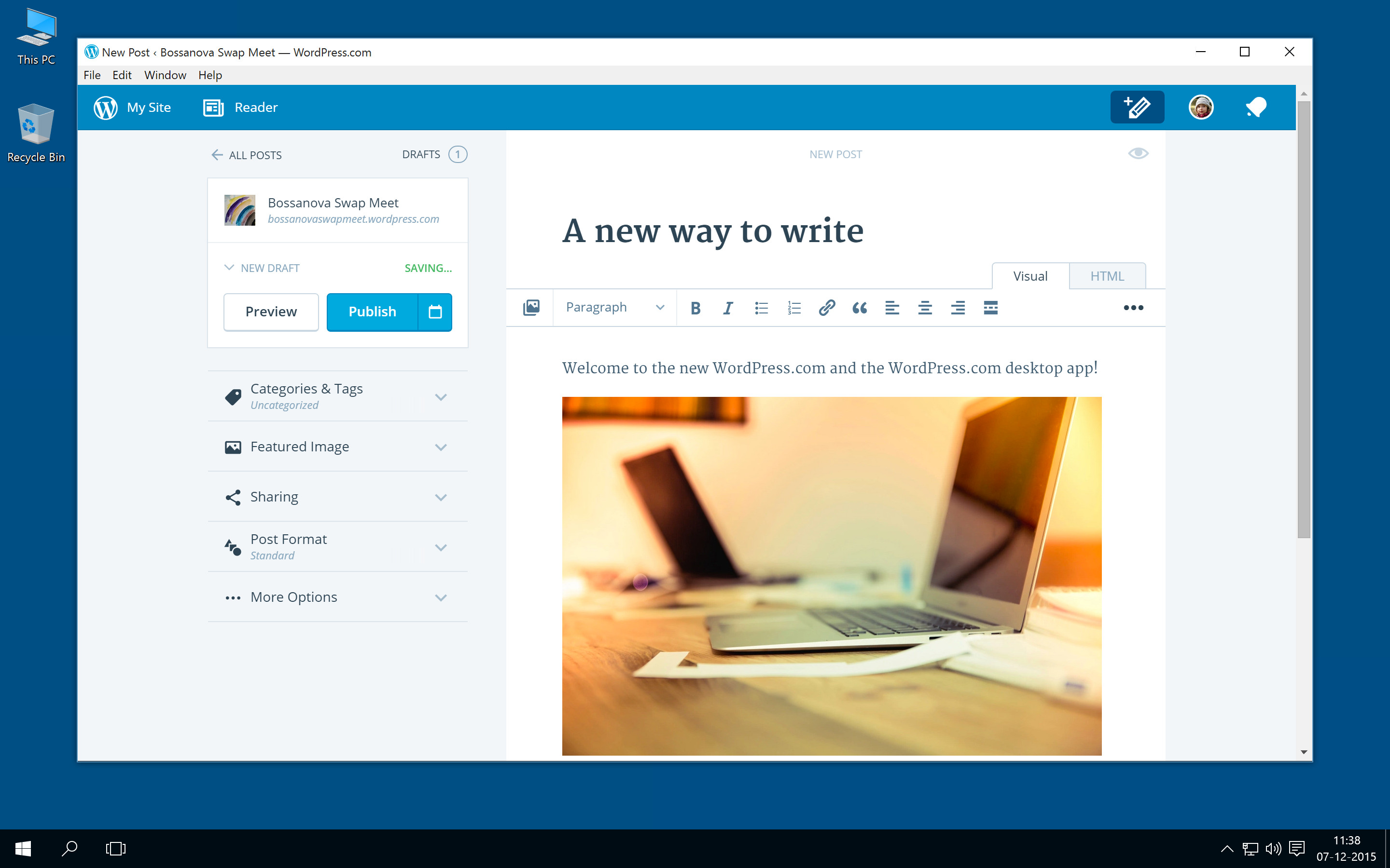 WordPress com launches new app for Windows - Neowin