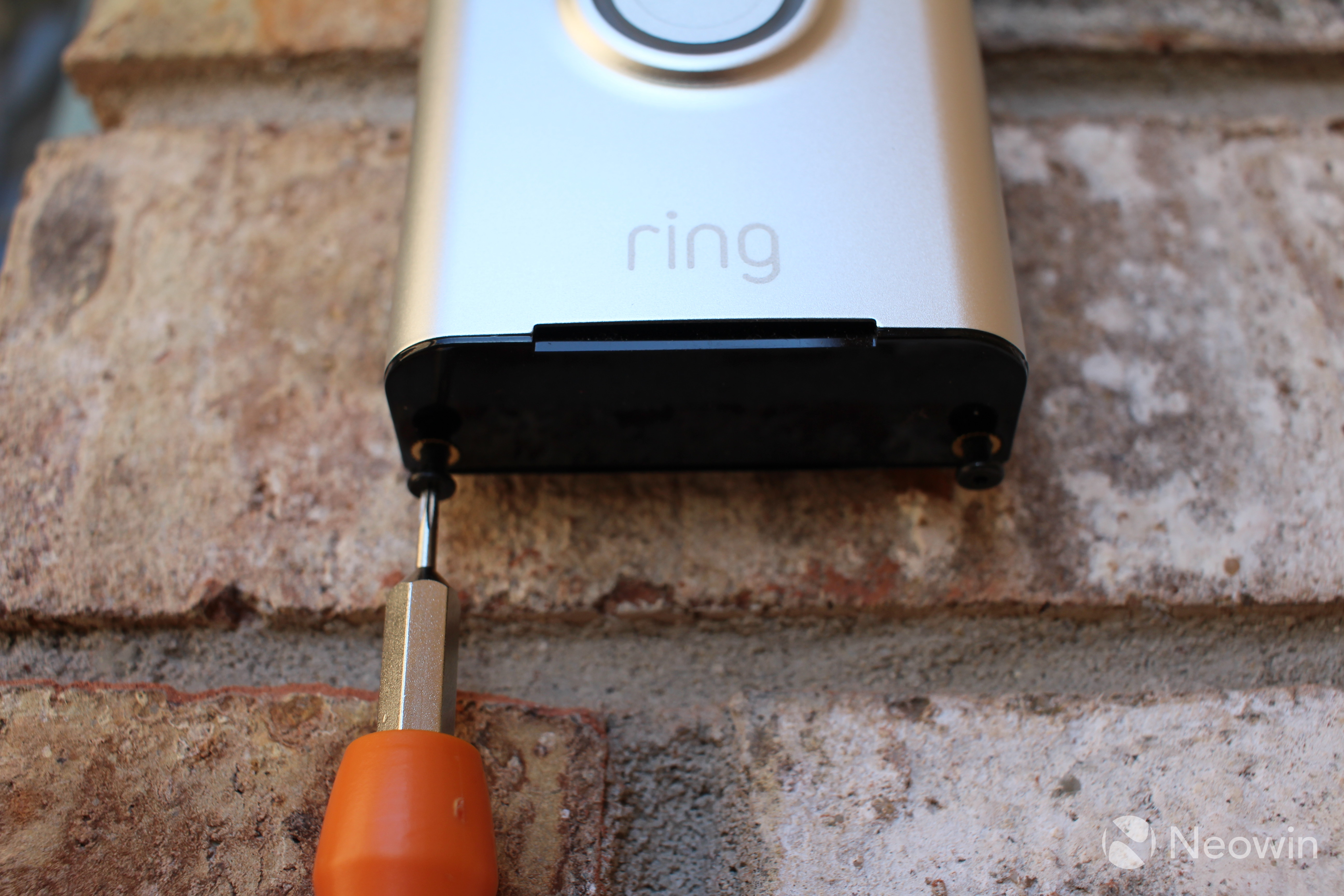 Ding Dong Deterrent My Review Of The Ring Video Doorbell Neowin Wiring In Next I Slid On Door Bell And Fastened Security Screws At Bottom Device Which Ensures Somebody Cant Just Run Up To Front