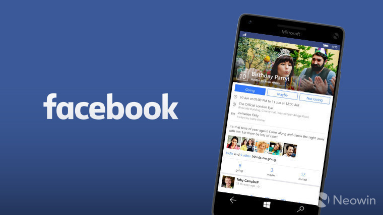 microsoft facebook app for windows 10 mobile