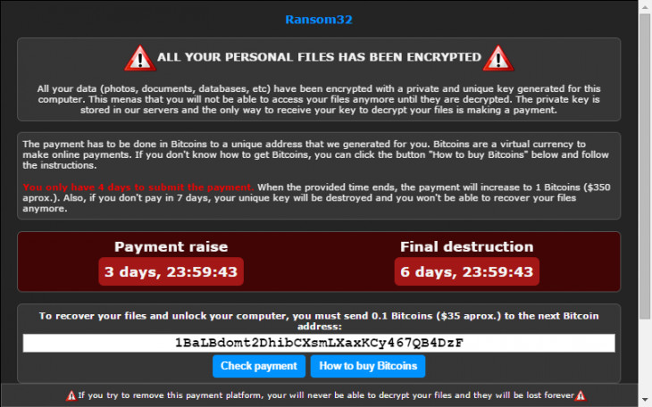 Meet Ransom32, the first Javascript ransomware for Windows