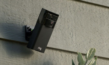A smart Ring camera on a wall
