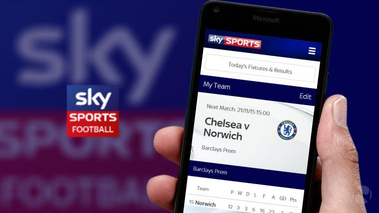 Sky Sports Football Score Centre app launches on Windows 10