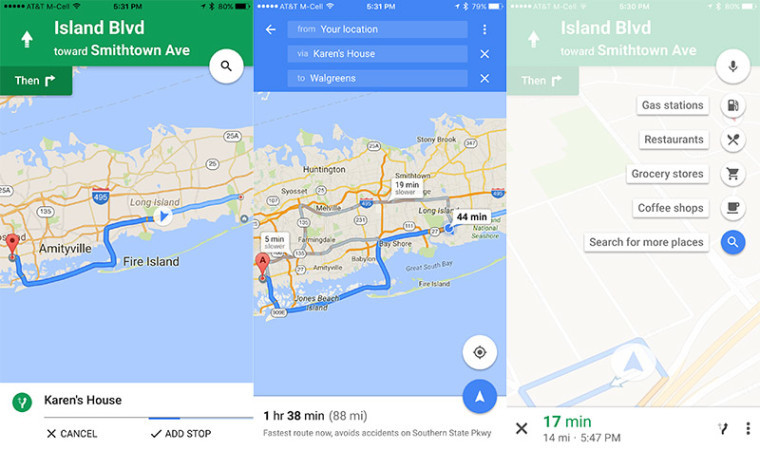 You can now make a pit stop when using Google Maps navigation on iOS
