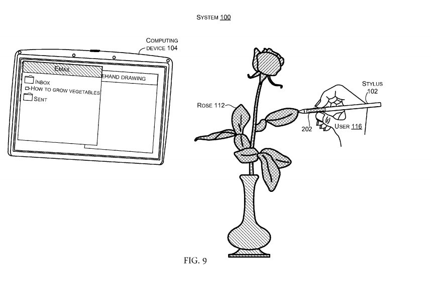 Microsoft patents stylus that can scan colors and textures from the real world