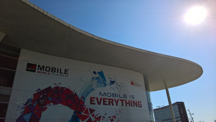 Entrance to Mobile World Congress 2016 in Barcelona