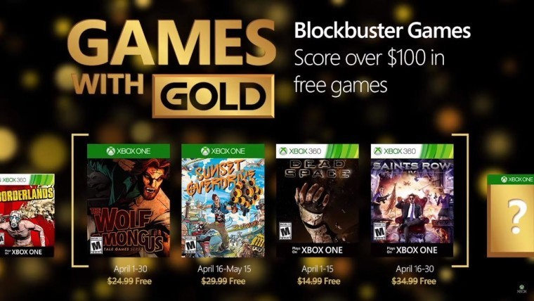 Xbox Games with Gold for April includes Sunset Overdrive