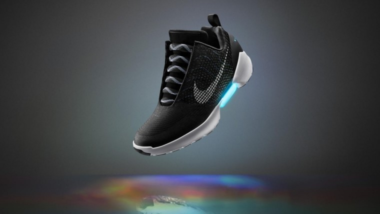 Nike unveils self-lacing shoes, HyperAdapt 1.0