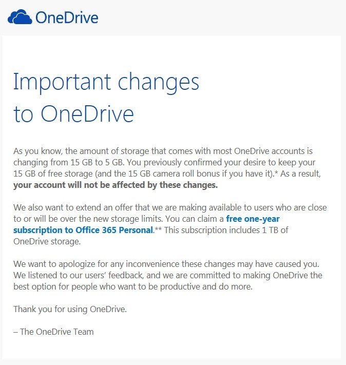 Microsoft sends invites for free one year Office 365