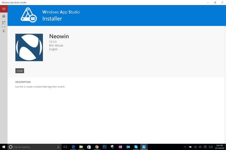 Microsoft formally introduces the App Studio Installer