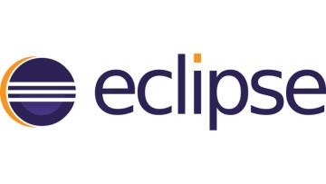 A logo of Eclipse