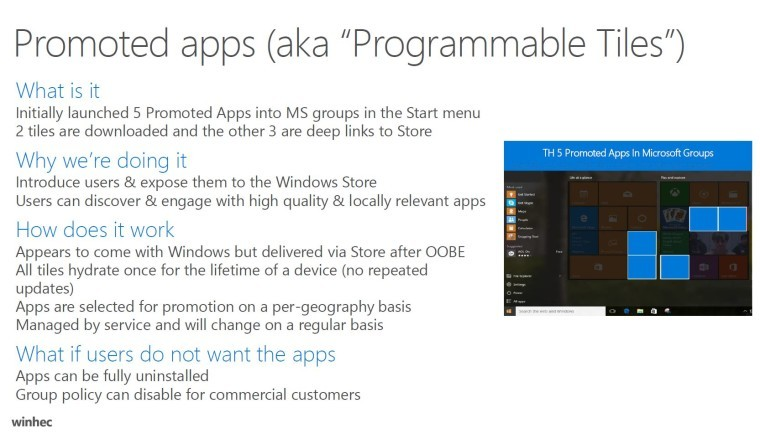 Windows 10 anniversary update to increase the number of promoted apps displayed - onmsft. Com - may 13, 2016