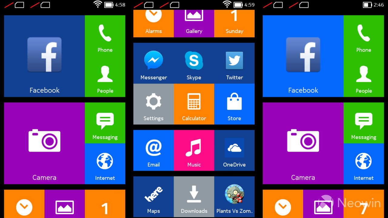 Flashback Nokias First Stab At Android With The Nokia X Platform Xl Yellow Design Of Was Clearly Modeled After Windows Phone It Used Tiles However They Were Static Sort Defeats Purpose A Huge Tile If