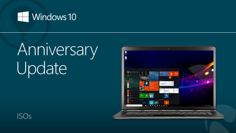 Microsoft has released ISOs for Windows 10 Anniversary Update build 14393
