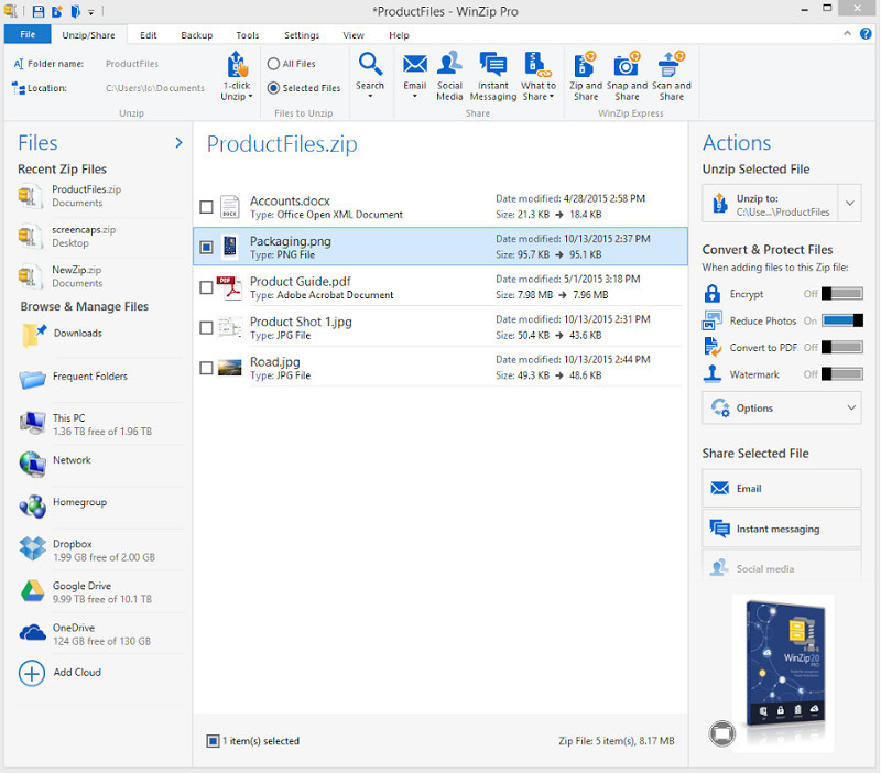 WinZip Launches Universal App For Windows 10 PCs And