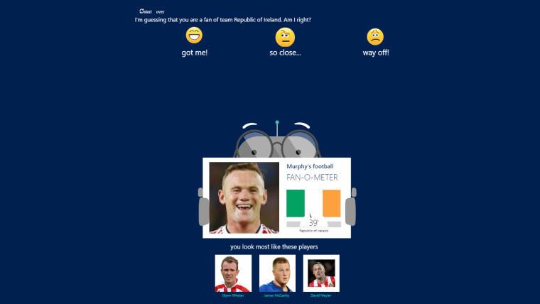微软聊天机器人Murphy 能猜到你是哪支欧洲杯国家队的球迷 微软聊天机器人Murphy 能猜到你是哪支欧洲杯国家队的球迷 AI资讯