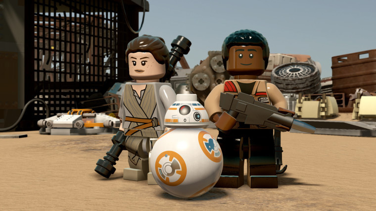 This is a screenshot from Lego Star Wars The Force Awakens