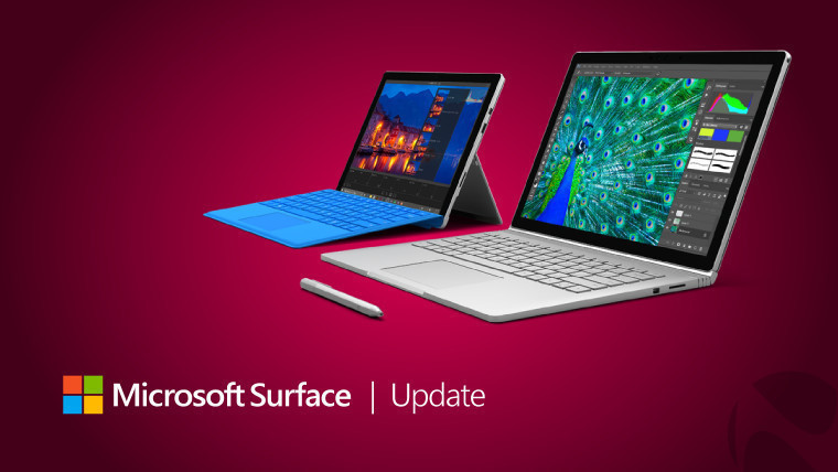 Surface Studio, Book, and Pro 4 all get firmware and driver